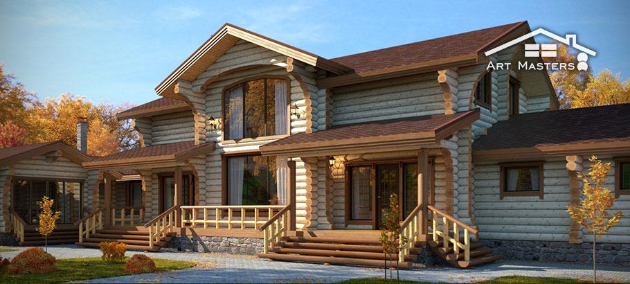 деревянные дома из бревна фото проекты и цены под ключ